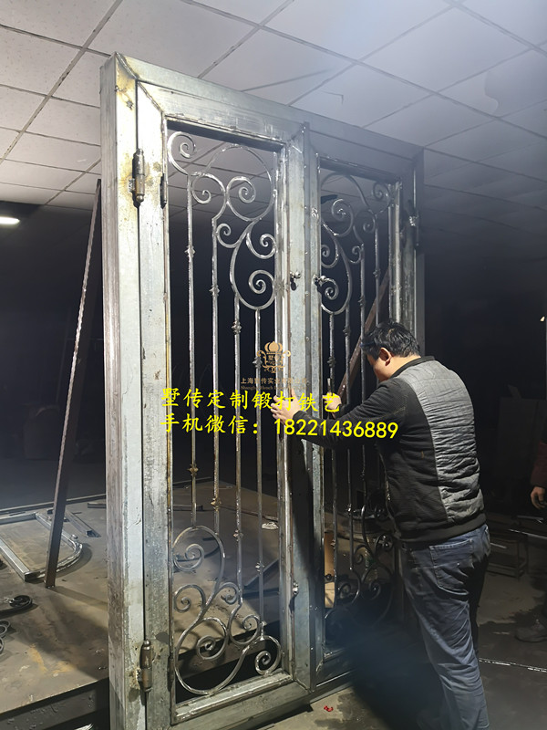 Shanghai Hench Brand China Factory 100% Custom Made Sale Australia Vintage Wrought Iron Screen Doors