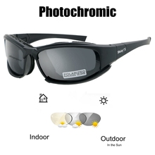 Outdoor Sport Color-changing Photochromic Glasses Tactical F