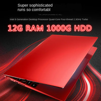 15.6 Inch Quad-Core Gaming Laptop Mobile 12G RAM 1TB HDD 512G 256G 128GSSD Business Netbook Ultra-Thin Portable J4105 Pink Red