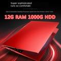 15,6 zoll Quad-Core Gaming Laptop Mobile 12G RAM 1TB HDD 512G 256G 128GSSD business Netbook Ultra-Dünne Tragbare J4105 Rosa Rot
