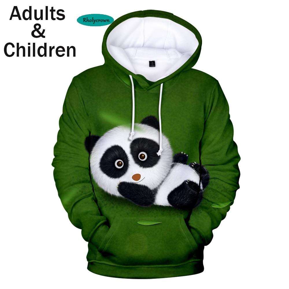 Cute 3D Animal Panda Hoodies Boy Girl Sweatshirts Autumn Harajuku High Quality Hooded Kids Panda Pullovers Boys Girls Hoodie