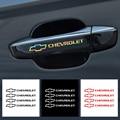 4 шт. наклейки на дверные ручки автомобиля для Chevrolet Cruze Lacetti Equinox Trax Captiva SS Z71 Impala Sail Aveo Malibu Camaro Sonic Spark