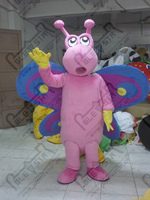 quality huge wings butterfly mascot costumes cartoon insect mascot design