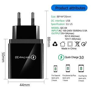Image 4 - 48W Quick Charge 4.0 3.0 4 พอร์ต USB Charger USB Fast Charger QC4.0 QC3.0 สำหรับ Samsung S10 A50 Xiaomi mi9 iPhone X 7 อะแดปเตอร์