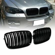 2 шт./компл. ABS Черная передняя решетки Высокое качество авто решетка автомобиля аксессуары для BMW X5 E70 X6 E71 2008-2013 спереди почек решетки