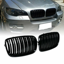 2pcs/Set ABS Black Front Grilles High Quality Auto Grille Car Accessories For BMW X5 E70 X6 E71 2008-2013 Kidney