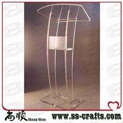 Gratis verzending Clear Lucite Platform Clear Lucite Podium door DHL of UPS plexiglas