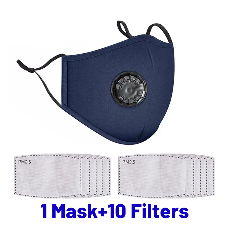 Dustproof Face Mask PM2.5 Anti Pollution Half Face Mouth Mask With Breathing Valve Washable Reusable Sponge Maks Respirator