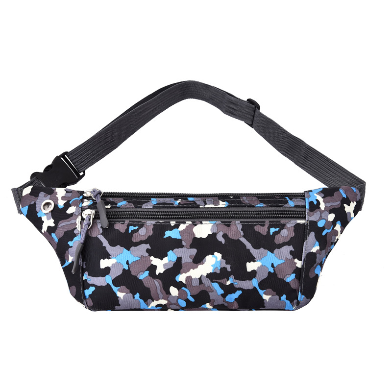 Outdoor Camouflage Running Sports Waist Pack Men And Women Fitness Waterproof Chest Pack Anti-Theft Body Hugging Mobile Phone Wa