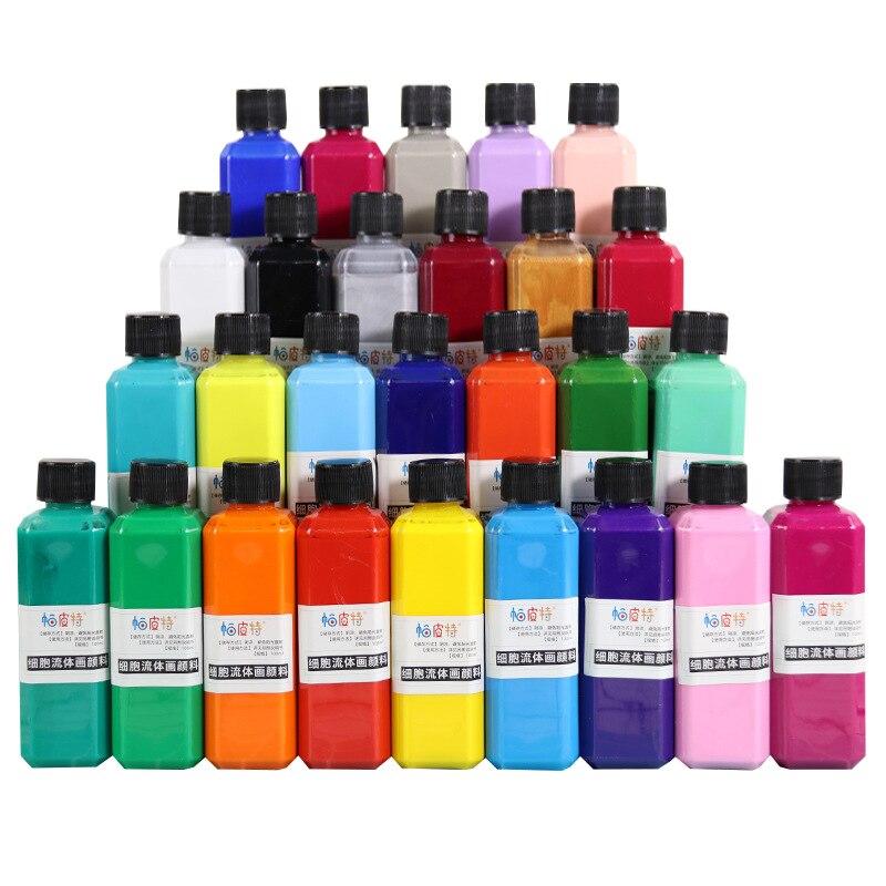 Fluid Paint / 100ml Bottle Of Liquid Pigment / Children's Diy Painting /art Supplies/ Art Supplies For Artist