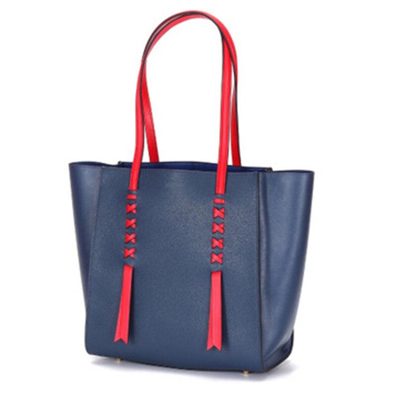 WOMEN BAG 2019 Fashion Leather Female Bag Silk Scarf Leather Solid Color Saddle Bag Wide Shoulder Strap Contrast Color Handbag