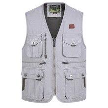Fashion Vests For Men Wholesale Men's Multi-pocket Photograp
