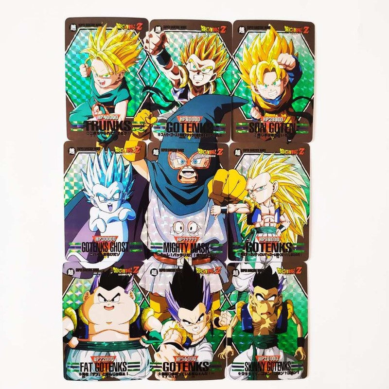 9pcs/set Dragon Ball Z Son Goten Trunks Fighting Copy 9 In 1 Super Saiyan Goku Vegeta Hobby Collectibles Game Collection Cards