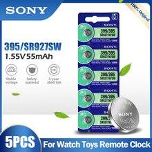 5 peças originais sony 395 399 ag7 sr927sw sr927w sr927 lr927 lr927w 1.55v bateria de óxido de prata para brinquedos de relógio remoto botão célula