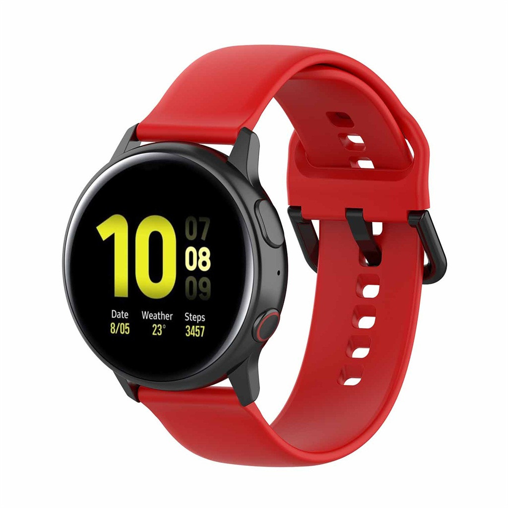 Silicone Watch Straps on for Samsung Galaxy Watch Active 2 40/44mm Watchbands correas de reloj de silicona Repalcement Bands