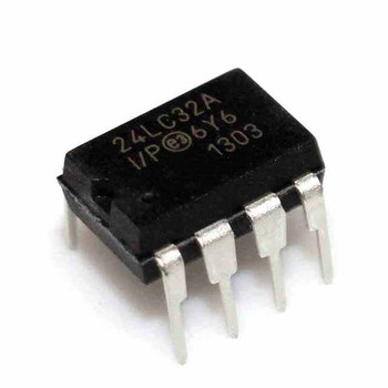 10pcs//lot 24lc256 eeprom Serial-i2c 256k-bit 32k X 8 3.3v 5v 8-pin Pdip Ic 24lc256-i p