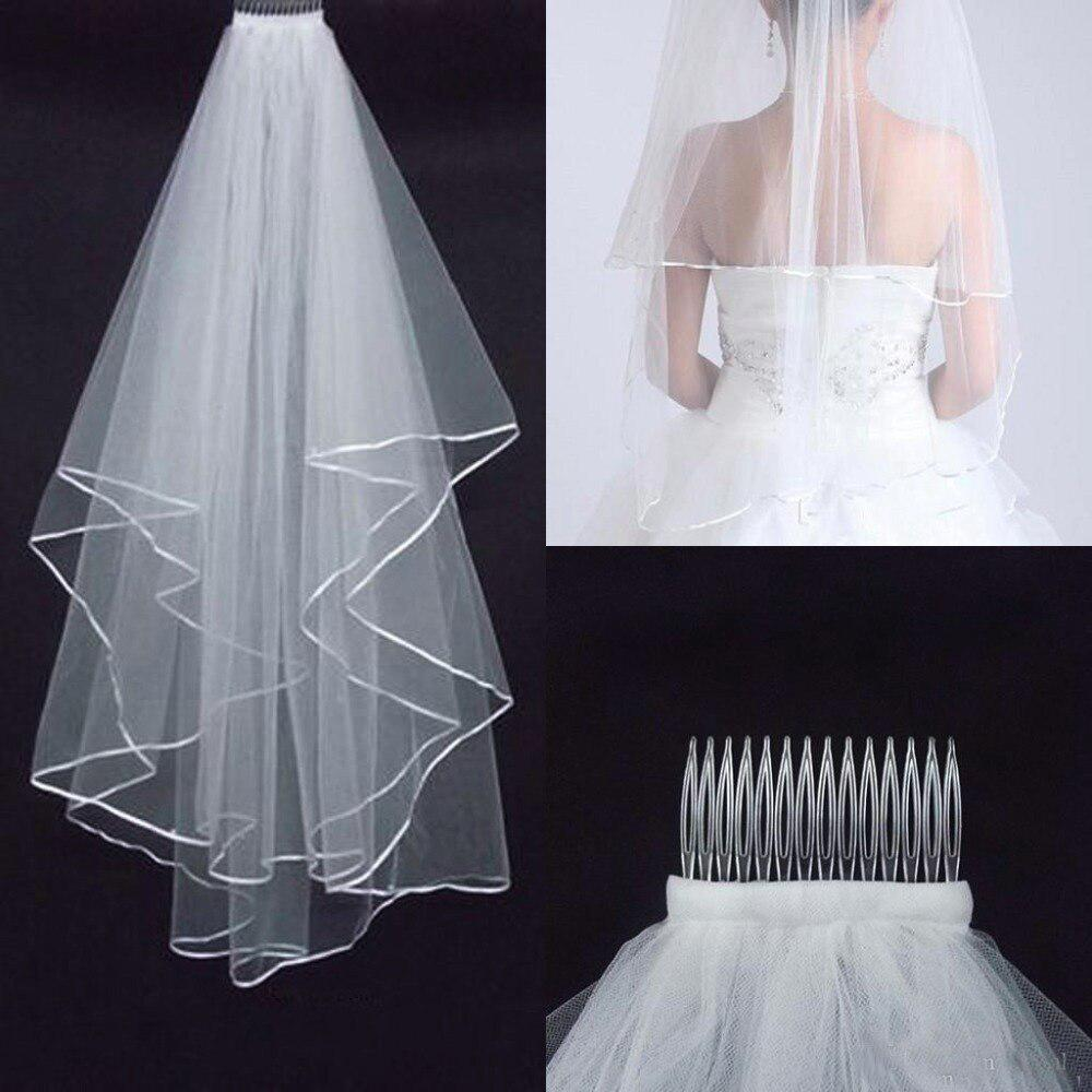 2016-Simple-Bridal-Veils-with-Two-Layers-White-Short-Cheap-Wedding-Veils