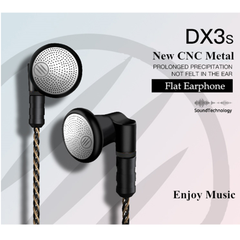 BGVP DX3s CNC Flat Earphone 3.5mm Earbuds DIY Audio Monitor Earphone Replacement Earbuds For Audiophile