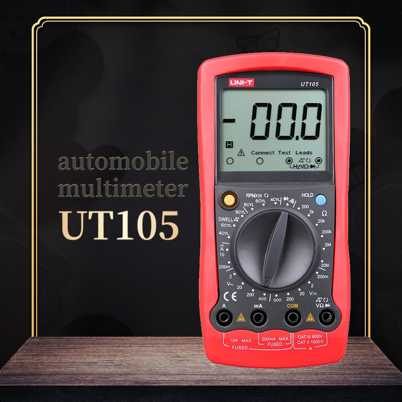 UNI-T <font><b>UT105</b></font>/UT107 Automobile Digital Multimeter AC DC Voltage DC Current Meter Ohm Tester Speed And Closed Angle Measurement image