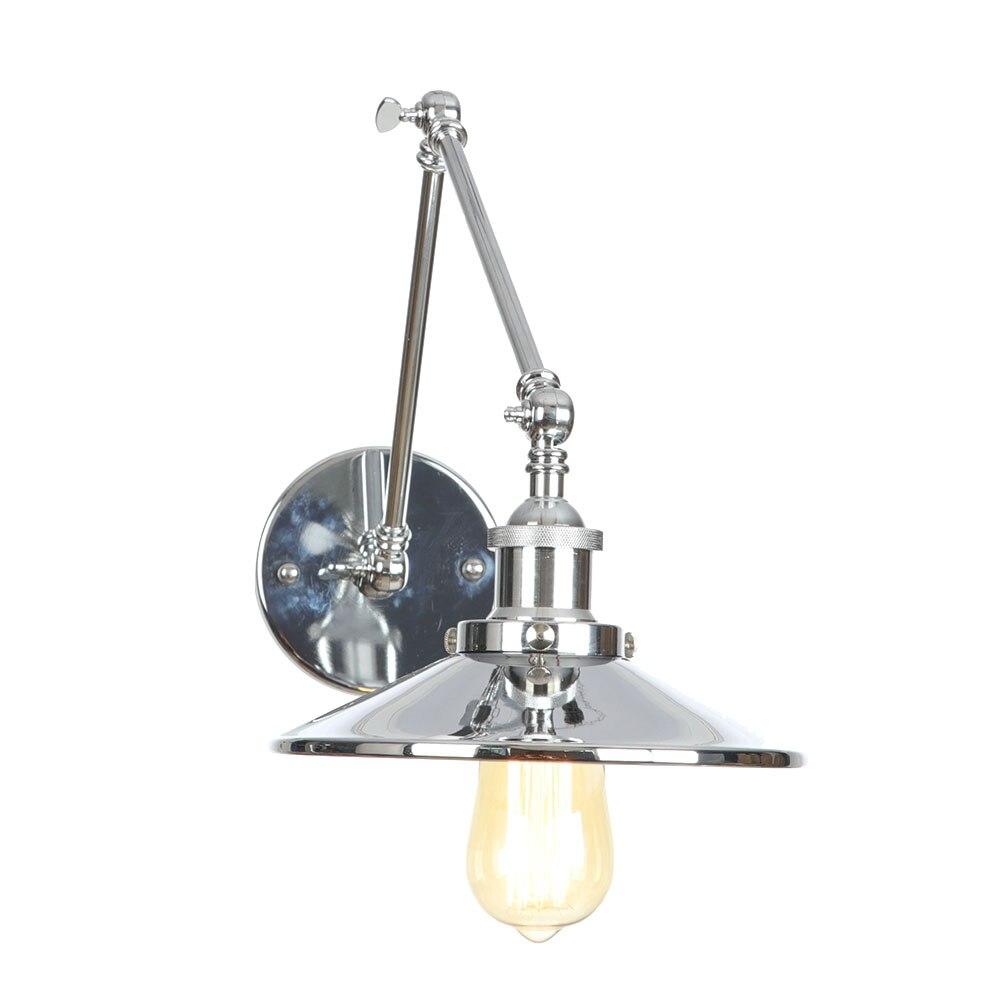 Серебряный Железный Лофт Декор настенный светильник s креативный