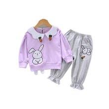 Детская весенне осенняя хлопковая одежда для маленьких девочек;
