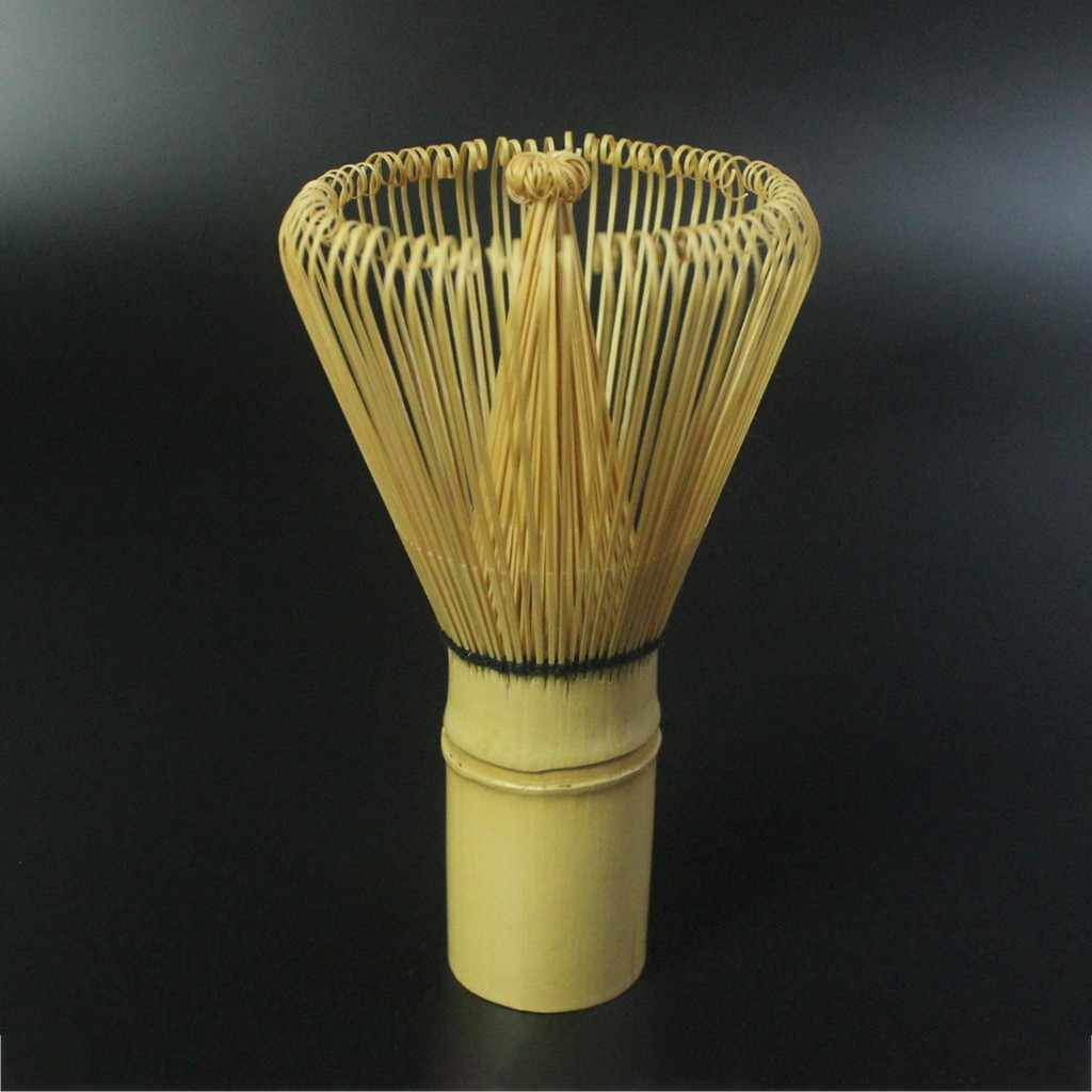 VINTAGE ล้างชาชุดเครื่องมือไม้ไผ่ 100 กวนชาชุดแปรงเตารีดไอน้ำ Multicolor 11 ซม.× 6 ซม.1 × กวนชาชุดแปรง # W
