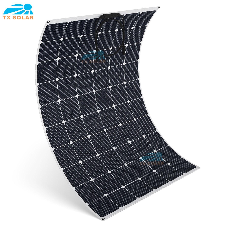 Гибкие солнечные панели для автомобилей, домов на колесах, яхт, рыболовных лодок, мощностью 20-24% Вт, с зарядкой от солнечной батареи 12 В и 24 В, 200