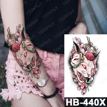 Vodeodolná dočasné tetovanie tetovačka samolepka Hodiny Rose Catrina Deň mŕtvych Flash tetovanie sova Krása Body Art Paže Dočasné Tatoo ženy 8
