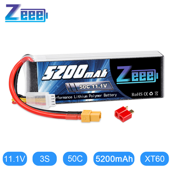 цена на Zeee 3S Lipo Battery 11.1V 50C 5200mAh XT60 Plug with Dean Connector for RC Car Helicopter Quadcopter Boat RC Airplane