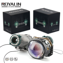 ROYALIN Blue Hella 3R G5 Black Car Styling Bi Xenon Headlights Projector Universal Auto HID D2S D2H Lamp Hi/lo Retrofit Lens