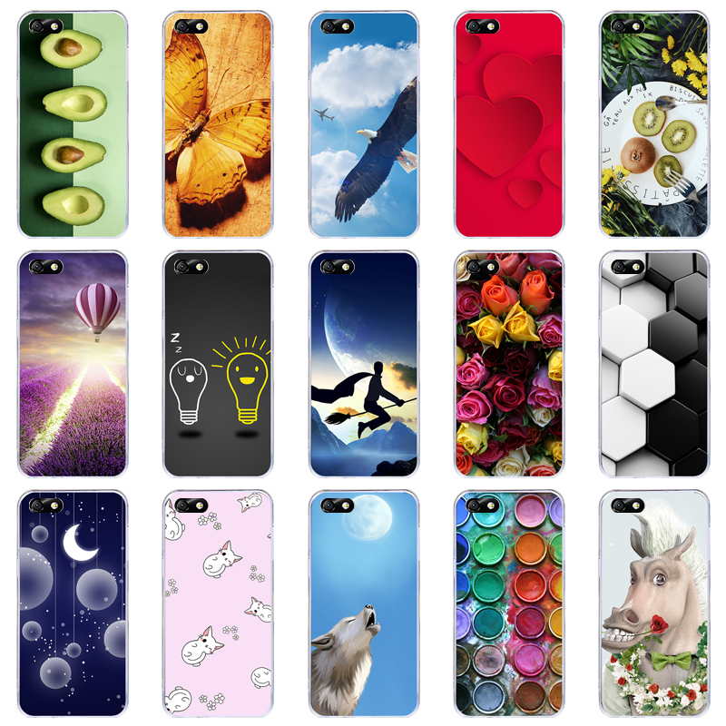 Lamocase Phone <font><b>Case</b></font> For <font><b>Huawei</b></font> <font><b>Y5</b></font> <font><b>2018</b></font> <font><b>Cases</b></font> For <font><b>Huawei</b></font> <font><b>Y5</b></font> Prime <font><b>2018</b></font> Y 5 Lite Silicone Painted Cover Cartoon Soft Coque Funda image