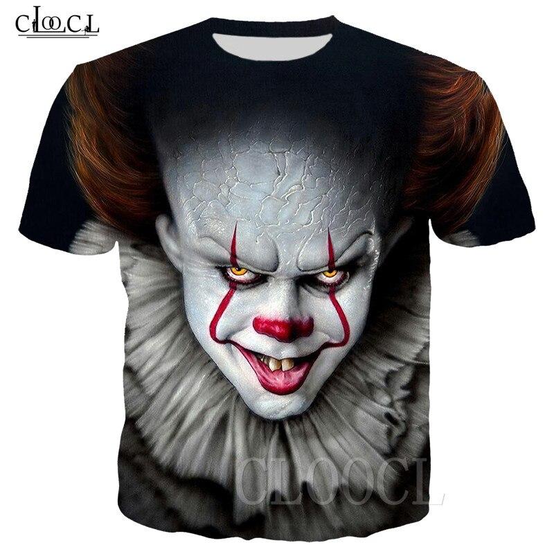 Pennywise Clown T-shirts IT Chapter 2 3D Print Casual Harajuku Sweatshirt Women Men Zipper Hoodie Hip Hop Streetwear Tshirt Tops