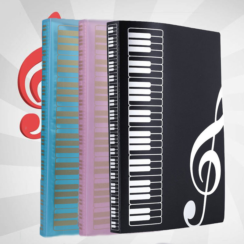 Music Sheet File Paper Documents Storage Folder 40 Pockets Holder Storage Clip Sheet Music