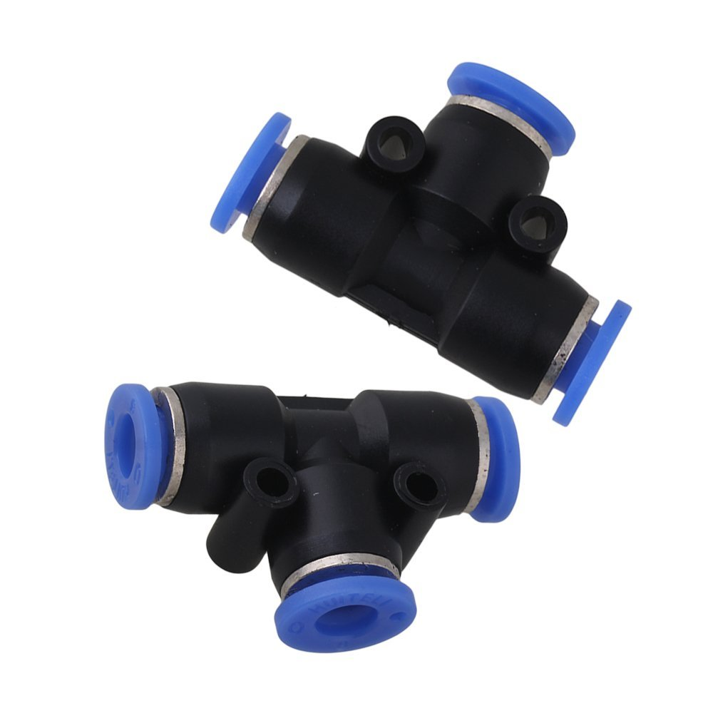 Plastic 6mm Push In Equal Tee Pneumatic Jointer Connector For Piping Air Connectors Pack Of 25