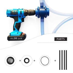 Image 5 - 핸드 전기 드릴 자체 프라이밍 워터 펌프 DC 원심 펌프 가정용 소형 잠수정 모터 홈 가든 배수 장치