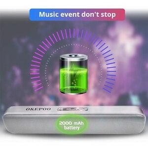 Image 4 - Okepoo Bluetooth Di Động S808 Hỗ Trợ Micro Thẻ TF FM AUX 2000MAh Pin HIFI Stereo Không Dây Bluetooth