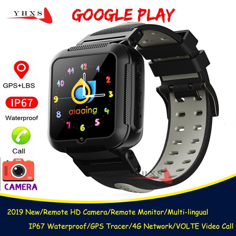 Whatsapp inteligente 4g gps crianças estudantes bluetooth música câmera relógio de pulso monitor chamada vídeo rastreador localização android telefone relógio