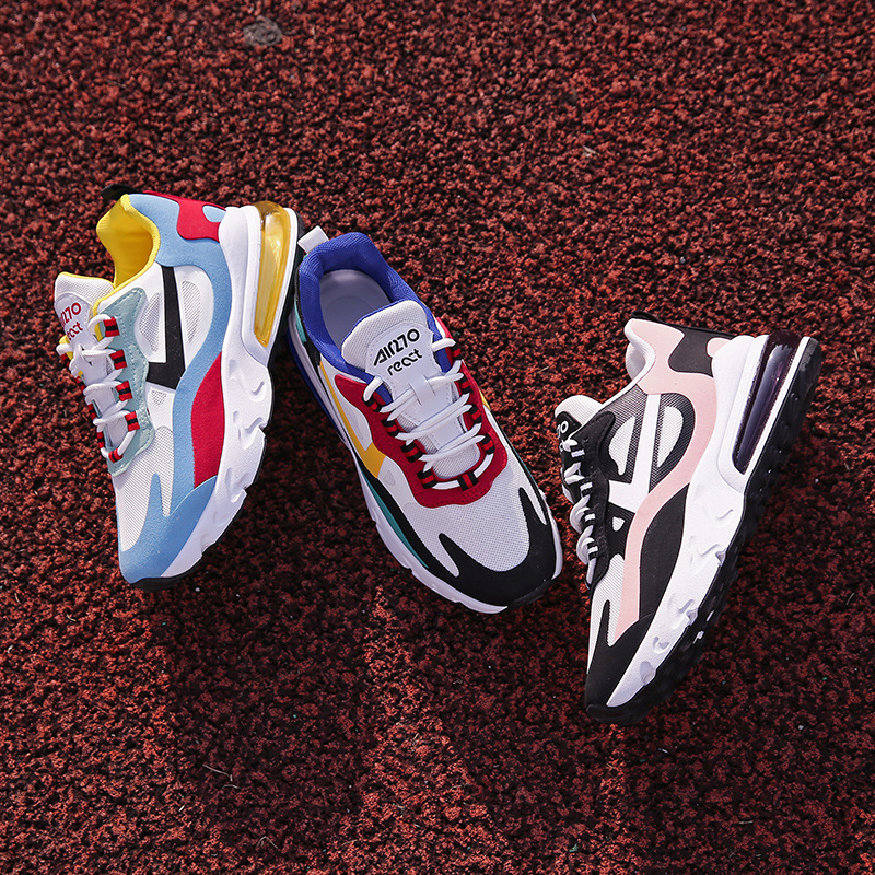 2020 new thick soled sports shoes women's shoes student shoes breathable multi color women's sports shoes plus size shoes