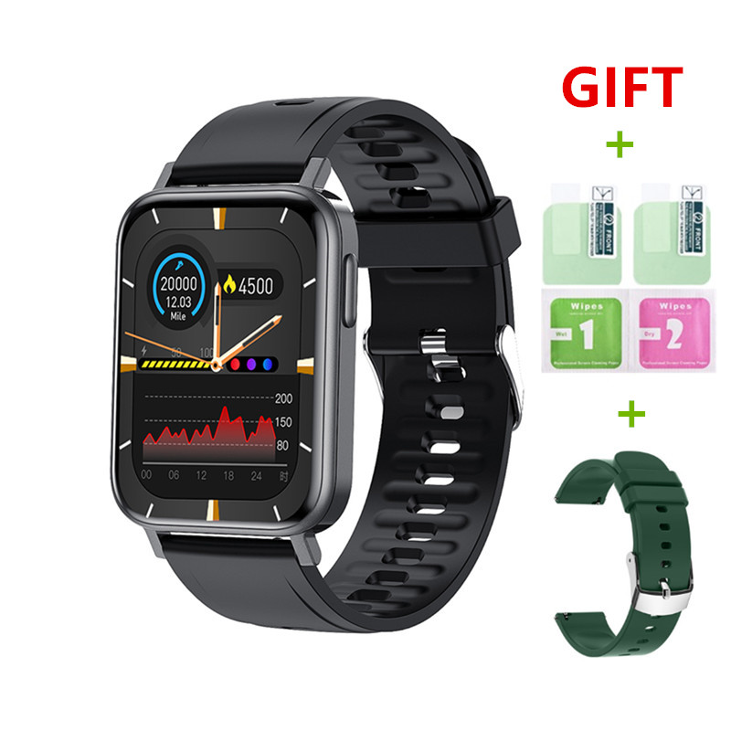 2021 New Smart Watch Men 1.65 Inch Body Temperature Monitoring DIY Watch Face Full Touch Screen Smartwatch Women for Android IOS
