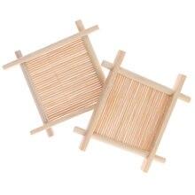 Поднос для мыла из натурального бамбука деревянный держатель