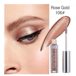 16 Colors Eye Makeup Silver Rose Gold Liquid Glitter Eyeshadow Shimmer Eye Liner Shadow Women Eye Pigment Cosmetics TSLM1