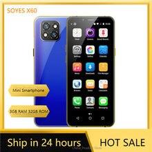 SOYES X60 Mini Smartphone Unterstützung Google Play 3GB 32GB 3.5