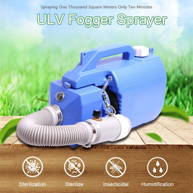 1000W 110V 5L Electric Cold ULV Fogger Machine Safety Protection Anti Haze Smog Disinfection Outdoor Camping Equipment US Plug