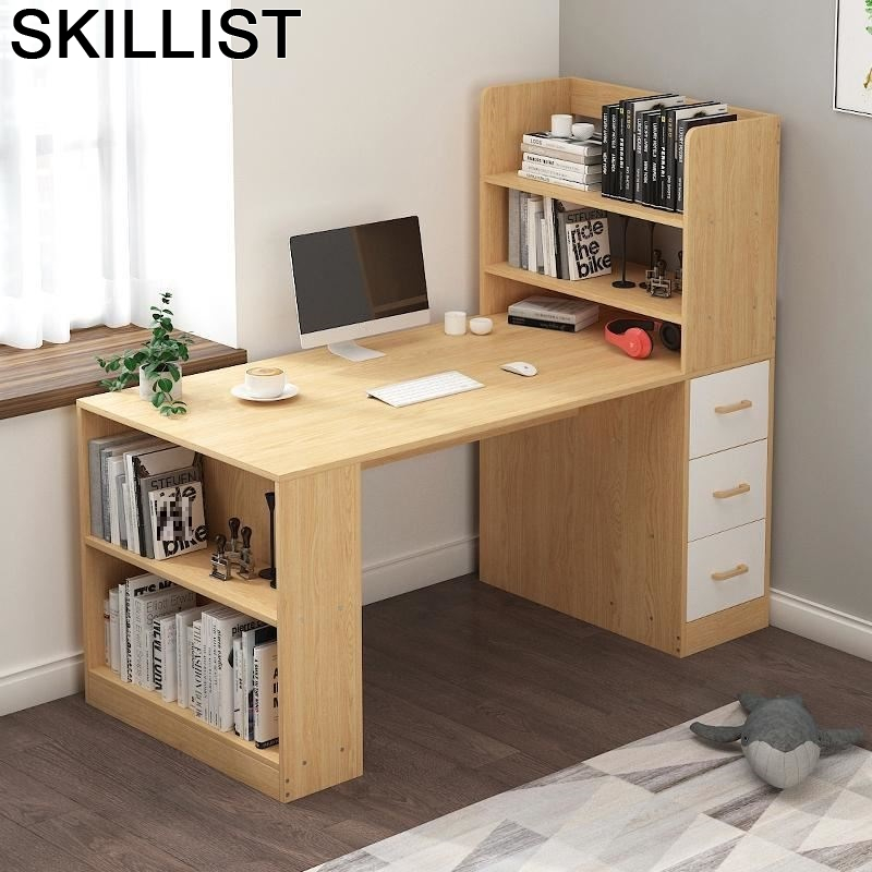Notebook Stand Desk Tafelkleed Escritorio Office Furniture Tisch Tavolo Bedside Laptop Computer Mesa Tablo Table With Bookcase