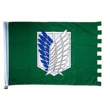 96x60cm ataque no titan shingeki bandeira bandeira casa escola pendurado filme parede barra ktv decoração bandeira bandeira cosplay prop