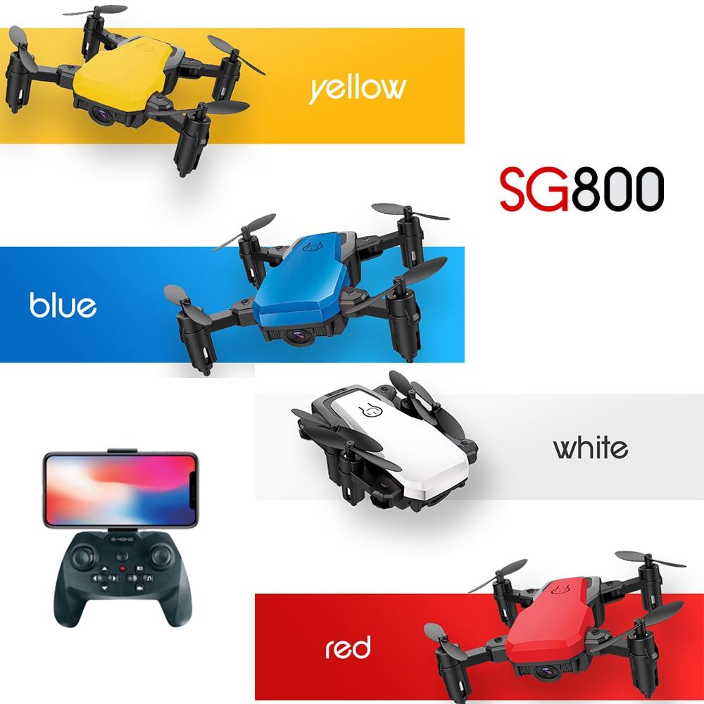 2019 SG800 Drone 2.4G FPV Mini Selfie Drone RTF With Wifi Camera HD Micro Radio Control Quadcopter VS S9 S9W E58 E61 Dron