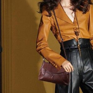 Image 2 - Cobbler Legend 2020 Genuine Leather Women Messenger/Crossbody Bag Ladies Small Shoulder Bags Vintage Female Cowhide Satchels