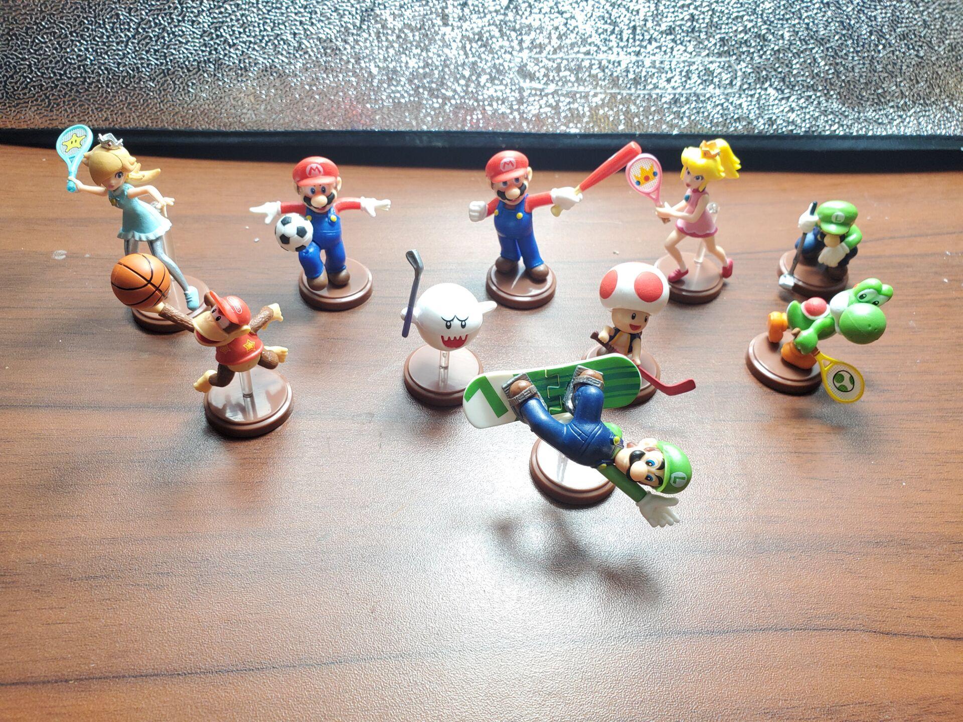 Мини Экшн-фигурки Nintendo SuperMarios, игрушки, желтый дракон, синий дракон, прекрасные куклы, модель сцены, микро пейзаж, реквизит