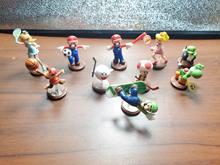 Nintendo mini ação supermarios figuras brinquedos dragão amarelo azul dragão adorável bonecas cena modelo micro paisagem adereços