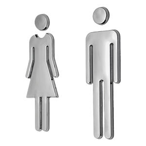 Toilet-Signs Wall-Stickers Restroom Mirror-Surface Washroom-Signage Man WC Plaque Woman